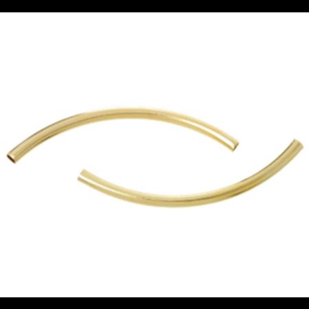 20 Stuks Gold Plated Tube Kralen 35x2mm
