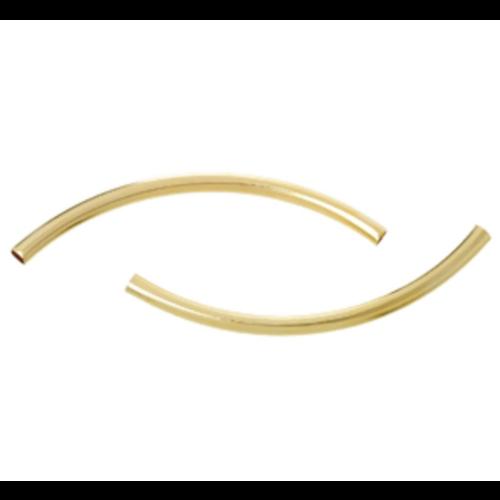 10 Stuks Gold Plated Tube Kralen 50x3mm