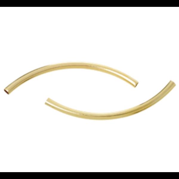 20 Stuks Gold Plated Tube Kralen 50x3mm