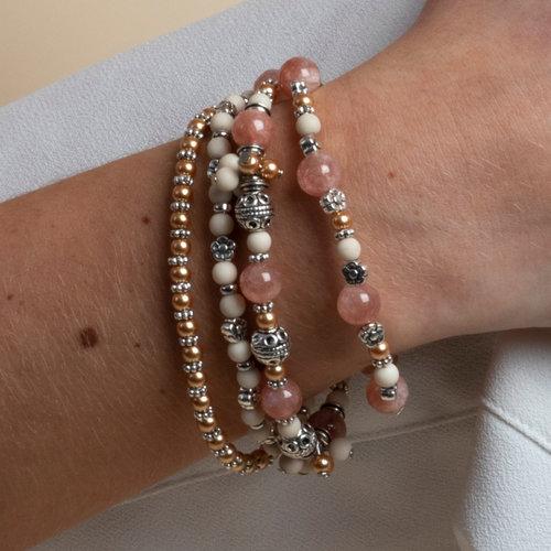 How to Make a Boho Bracelet with Natural Stone beads