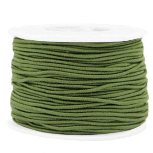 Elastic 1.5mm Olive Green, 1 meter