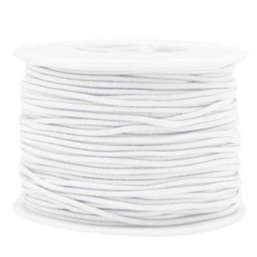Elastic 1.5mm White, 1 meter