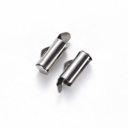 10 stuks Stainless Steel Eindkap 10mm voor Weefarmbandjes