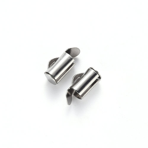 10 pieces Stainless Steel Tube End 8mm for Loombracelets
