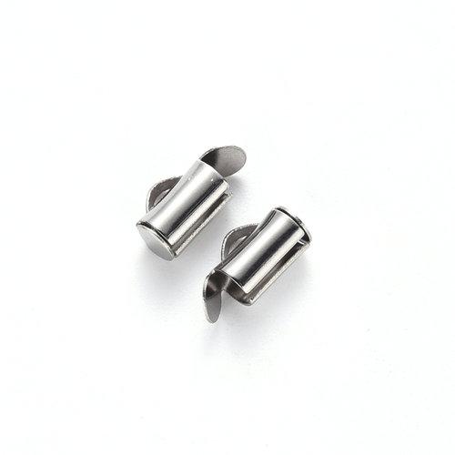 10 stuks Stainless Steel Eindkap 8mm voor Weefarmbandjes