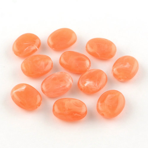 Gemstone Look Beads Coral 19x15mm, 8 pieces
