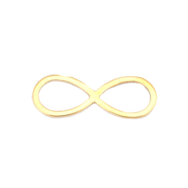 Stainless Steel Infinity Connector 21x7mm Gold Plated, 3 stuks