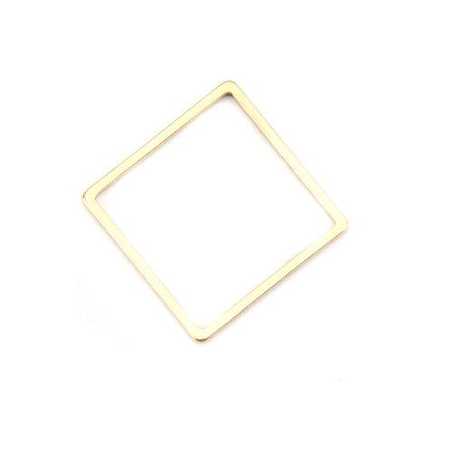 3 stuks Stainless Steel Ruit 16mm Gold Plated