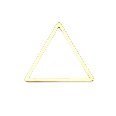 3 pieces Stainless Steel Piramid 18x16mm Gold Plated