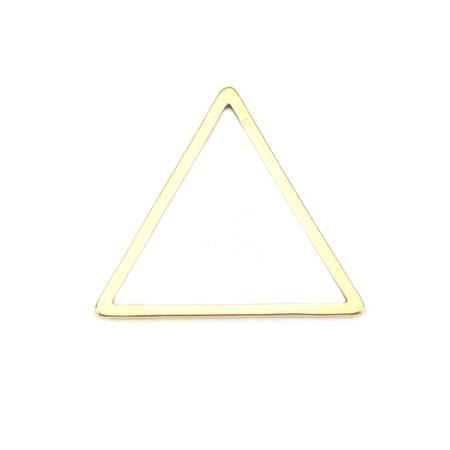 3 stuks Stainless Steel Piramide 18x16mm Gold Plated