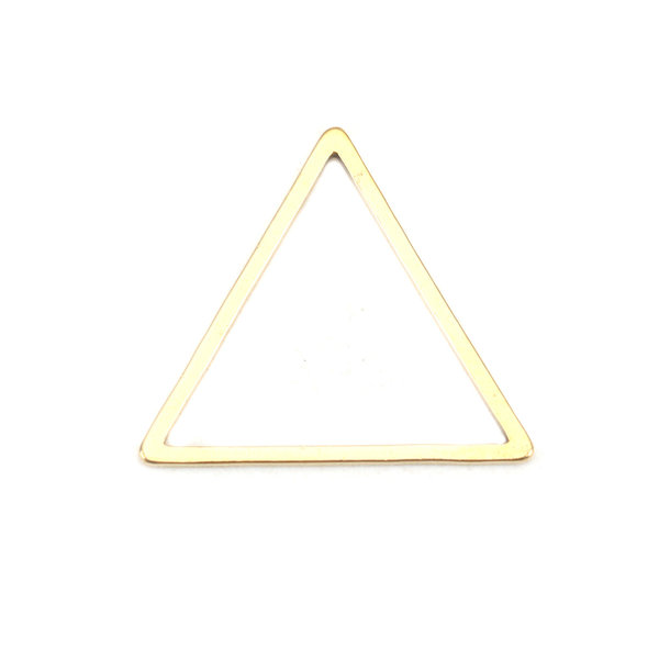 Stainless Steel Piramide Connector 18x16mm Gold Plated, 3 stuks