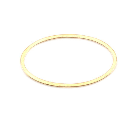 3 pieces Stainless Steel Oval 21x12mm Gold Plated