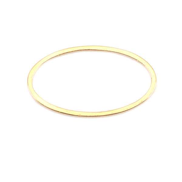 Stainless Steel Ovaal Connector 21x12mm Gold Plated, 3 stuks