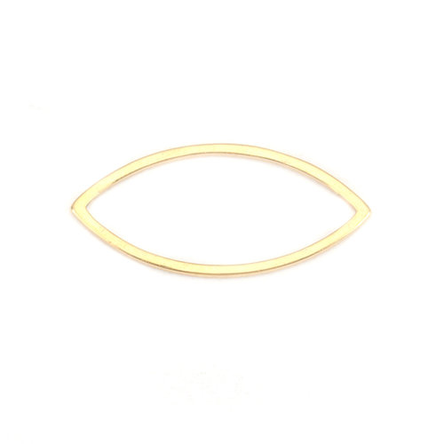 3 stuks Stainless Steel Eye 22x10mm Gold Plated