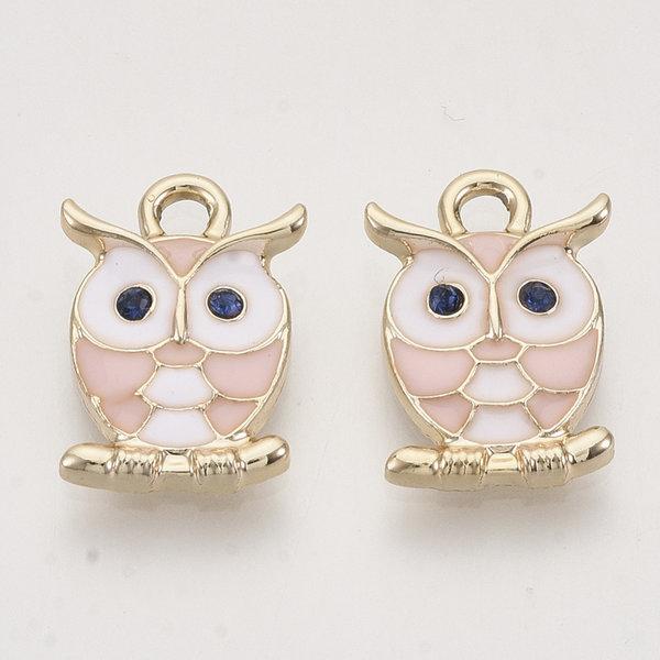 Owl Charm Gold 17x11.5mm