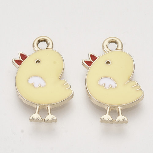 Chick Charm Gold Yellow 20x13mm