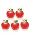 Bedel Appel Goud Rood Groen 15x12mm