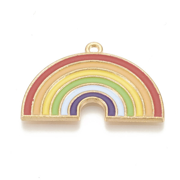 Rainbow Charm Gold 21x32.5mm