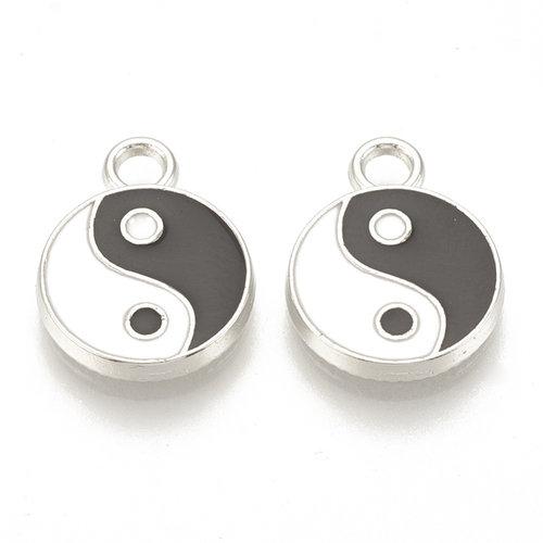 Yin Yang Charm Silver 16x12mm