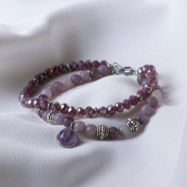 How to Make a Lilac Jade Gemstone Bracelet