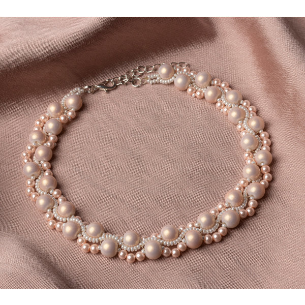 Beadwork Necklace with Pearls