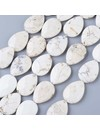 Natural Howlite Faceted Dropbeads 24x18mm, strand 22 pieces