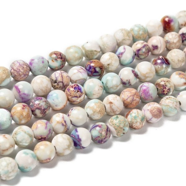 Natural Imperial Jasper Beads Purple 5mm, strand 58 pieces
