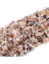 Natural Botswana Agaat Chips 5-9mm, streng 86cm