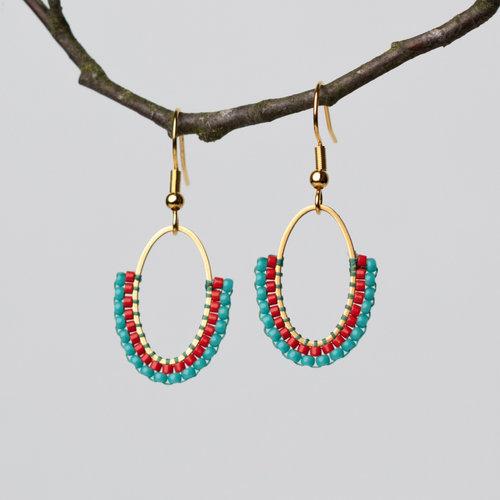 How to Make Oval Earrings with Miyuki Beads
