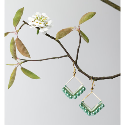 How to Make Earrings with Miyuki Delica's