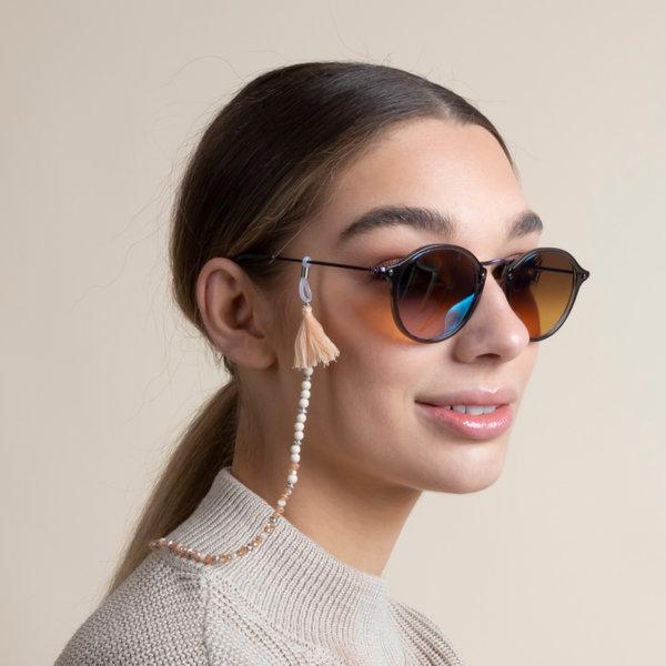 Zonnebrilkoord  Maken met Facetkralen Licht Roze