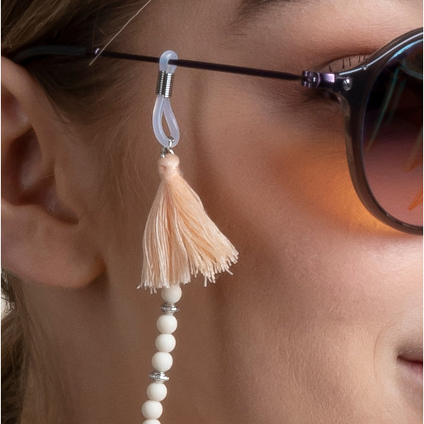 Make a Sunglasses Cord with Faceted Beads Pale Pink