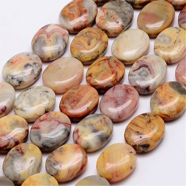 Natural Crazy Agate Beads 17x14mm, strand 24 pieces