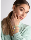 How To Make a Tuquoise & Yellow Bracelet Set  With Waxed Cord