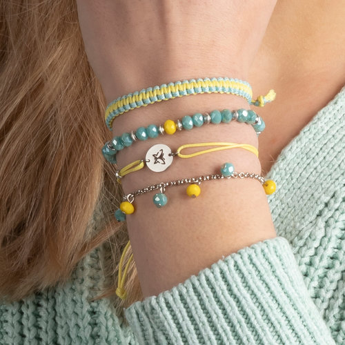 How To Make a Tuquoise & Yellow Bracelet Set