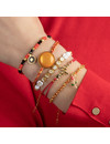 Set of Joyful Bracelets with Red, White and Gold