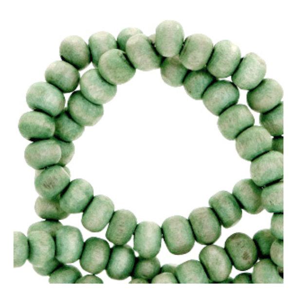 100 stuks Houten Kralen Vintage Groen 6mm