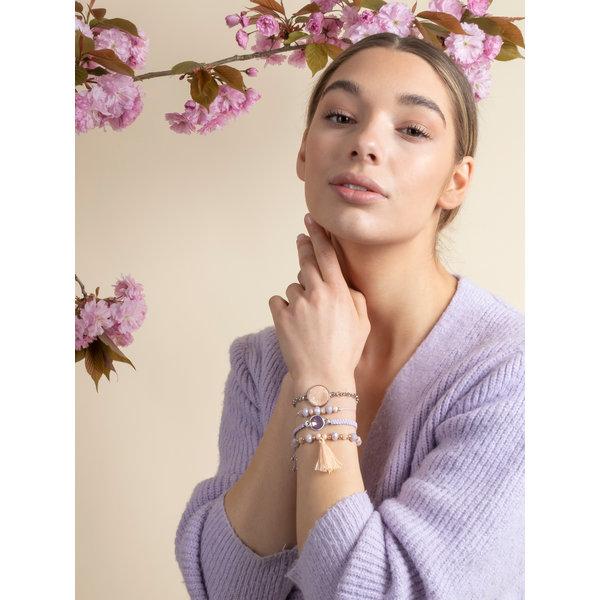 Armbandjes Maken in Lila en Zalm Roze