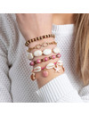 Pink Bracelets with Shell Beads and Gemstones
