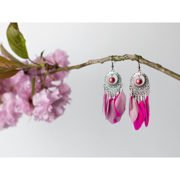How to Make Chandelier Earrings with Feathers
