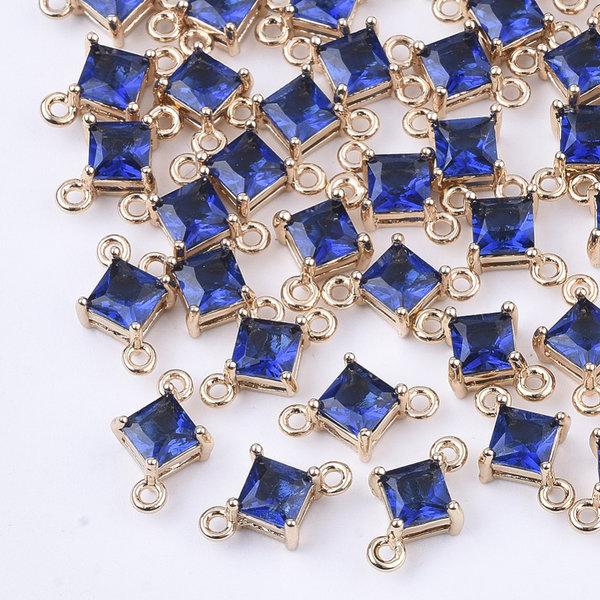 Ruit Crystal Glass Tussenzetsel 11x7mm Blauw