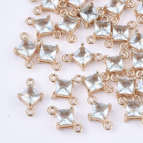 Ruit Crystal Glass Tussenzetsel 11x7mm Licht Aqua Blauw