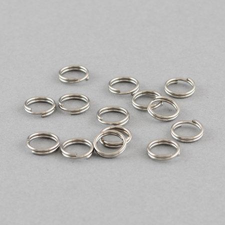 20 stuks Stainless Steel Splitring Zilver 6mm