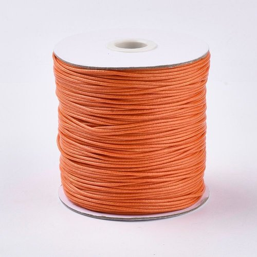 5 meter Waxed Cord 0.8mm Sunny Orange