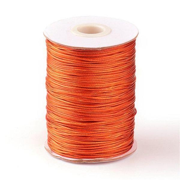 5 meter Waxkoord 0.8mm Sunny Orange
