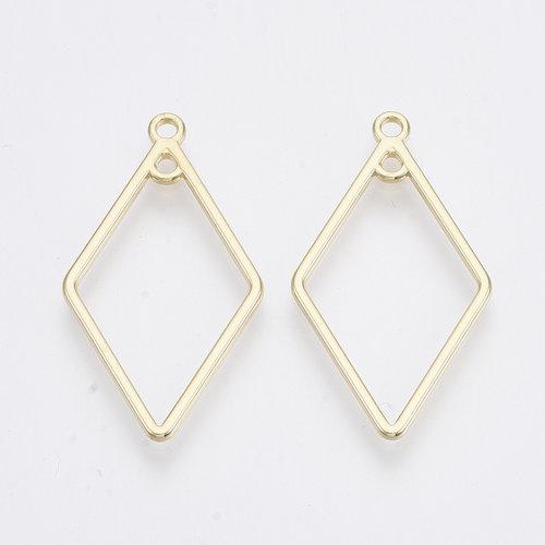 Rhombus Connector Golden 36x20mm