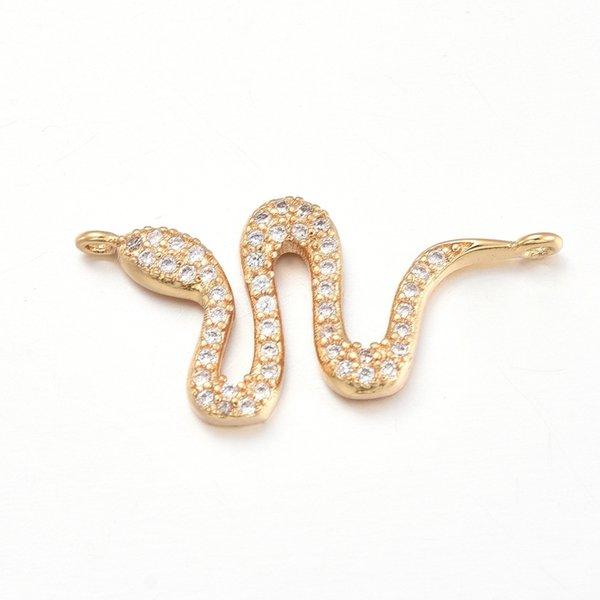 Luxury Link with Zirconia 13x26mm Snake Golden
