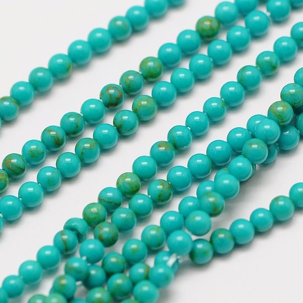 Natural Turquoise Gemstone Beads 2mm, strand 40cm, 174 pieces
