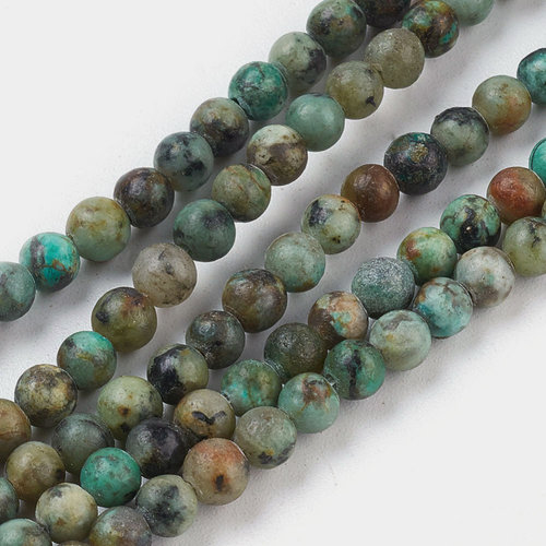 Natural African Turquoise Beads 2mm, strand 174 pieces