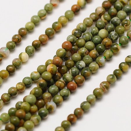 Natural Rhyolite Beads 2mm, strand 174 pieces